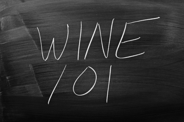 "The words ""Wine 101"" on a blackboard in chalk"